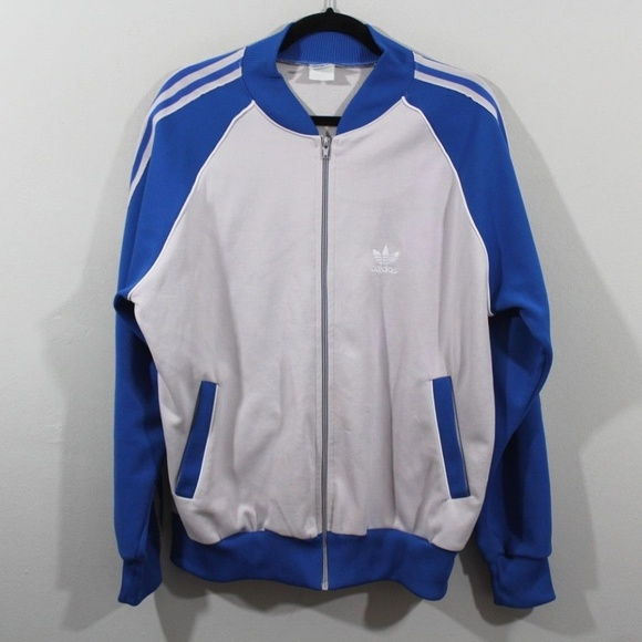 0a7d3ce00c3a8 Vintage 80s Adidas Mens Large Full Zip Jacket